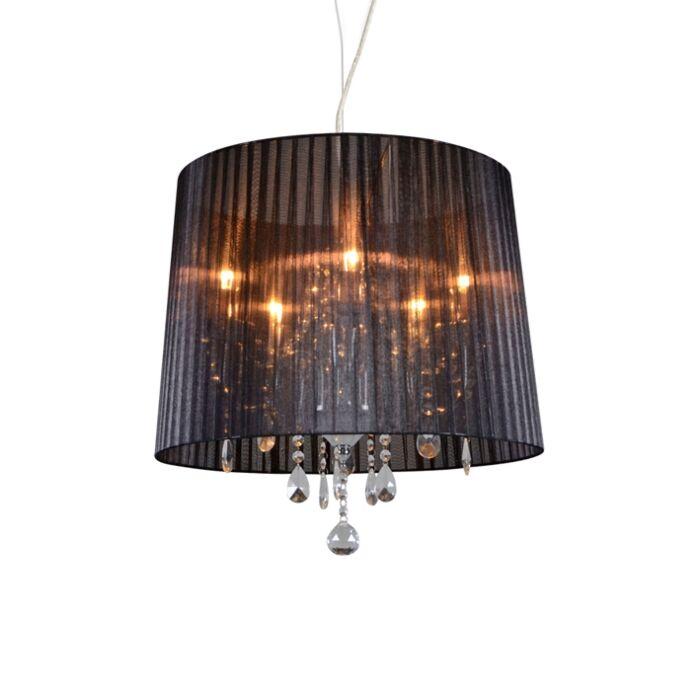 Chandelier-chrome-with-black-50-cm-5-light---Ann-Kathrin-5