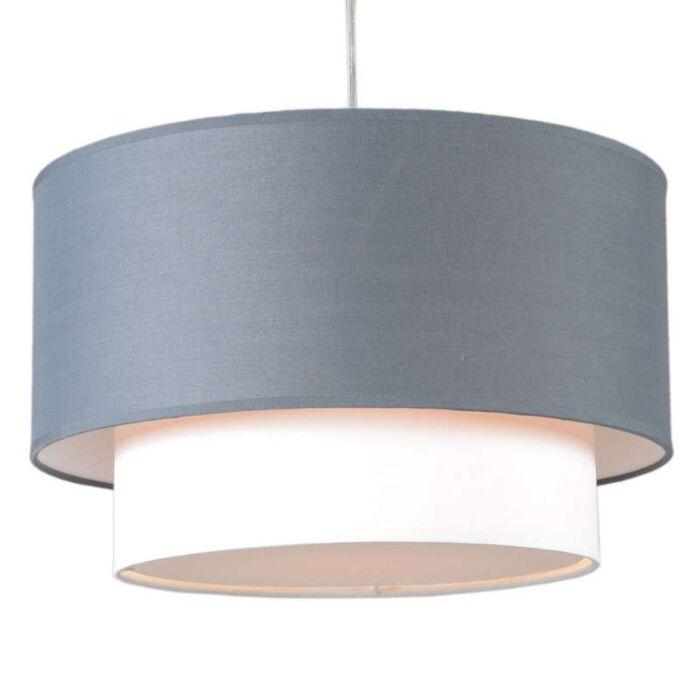 Pendant-Lamp-Tamburo-Due-40cm-Gray-White