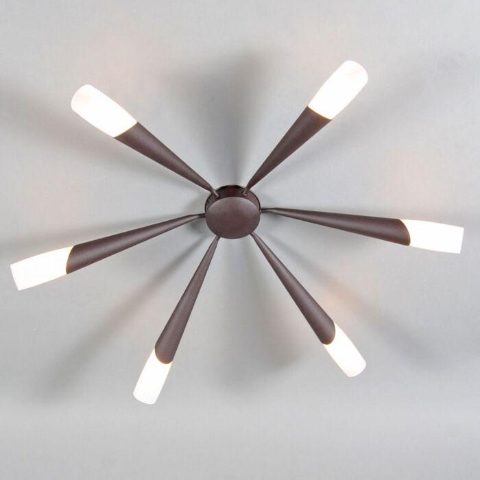 Ceiling-Lamp-Stream-6-Rust-Brown