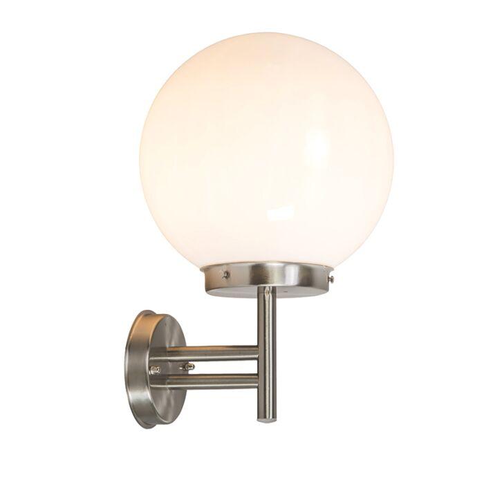 Modern-outdoor-wall-lamp-steel-stainless-steel-IP44---Sfera