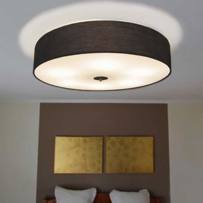 Country-ceiling-lamp-black-70-cm---Drum
