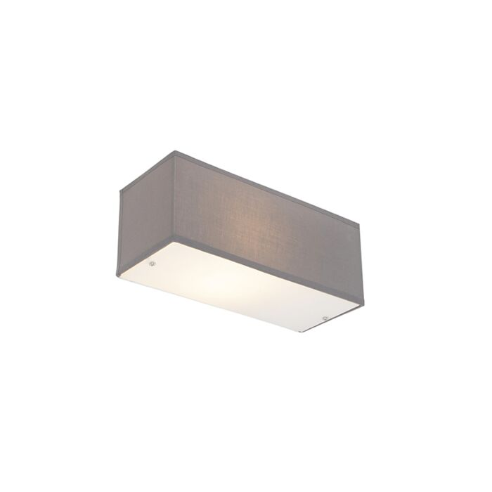 Modern-Rectangle-Wall-Lamp-Grey---Drum