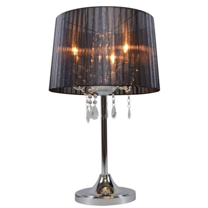 Classic-table-lamp-chrome-with-black-shade---Ann-Kathrin-3