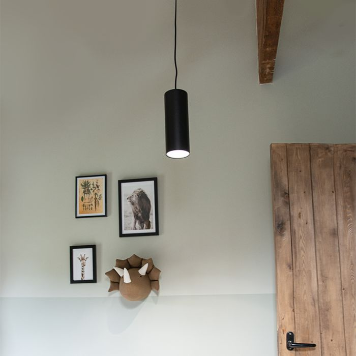 Modern-Pendant-Lamp-Black---Tubo