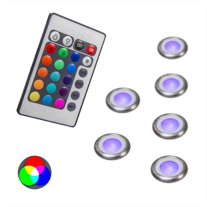 Set-of-6-Recessed-Spot-Lights-Pro-IP67-RGB