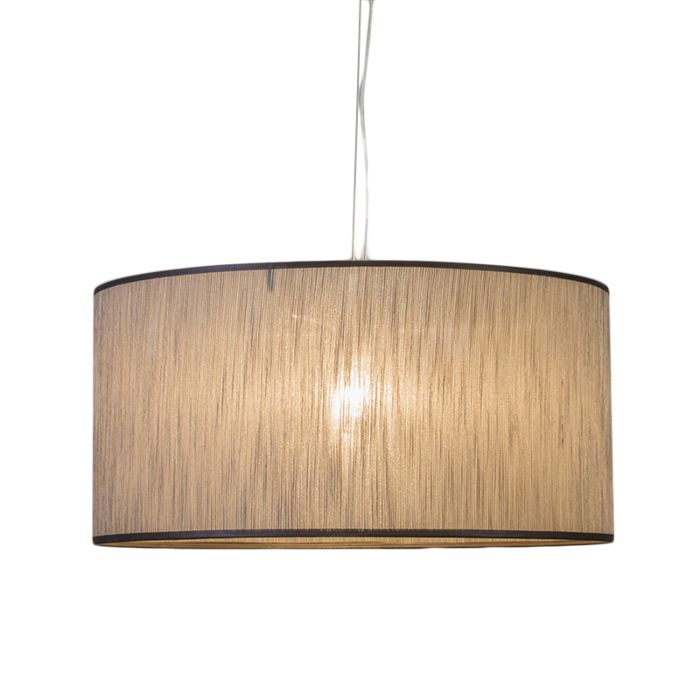 Pendant-lamp-Cappo-1-with-Shade-Brown-Melange