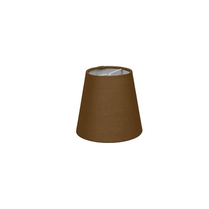 Clamp-Shade-Round-12cm-SC-Brown