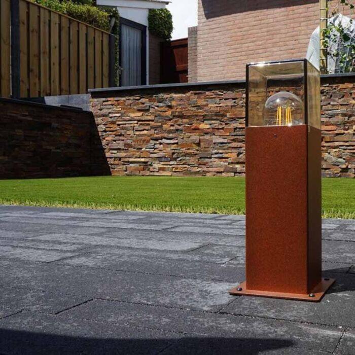 Modern-Outdoor-Pole-30cm-Rust-Brown-IP44---Denmark