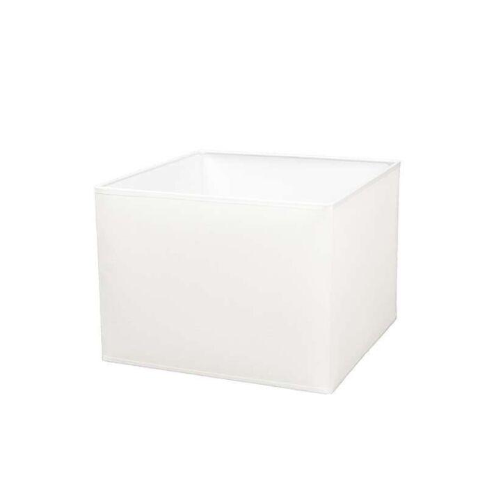Square-shade-30/30/22-cream-and-white-E27