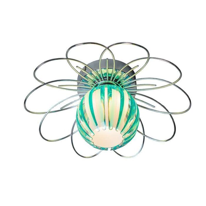 Ceiling-Lamp-Sun-Shiny-chrome-with-blue