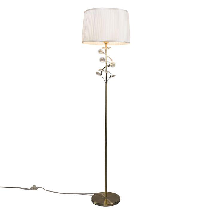 Floor-Lamp-Ruffle-Antique-Bronze