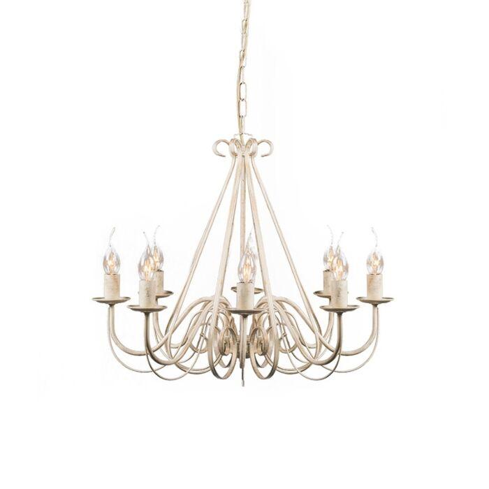 Antique-chandelier-cream-8-light---Giuseppe-8