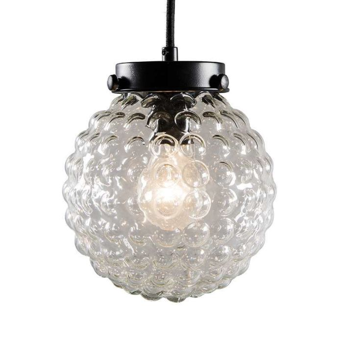 Brufoli-pendant-lamp-with-clear-glass-in-black