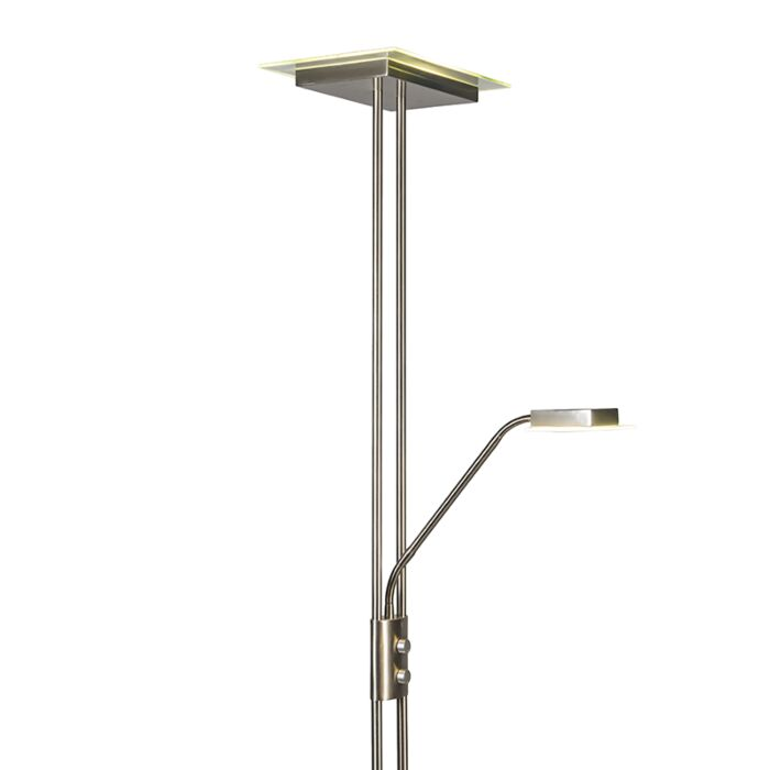 Uplighter-Jax-with-Reading-Lamp-Square-Steel