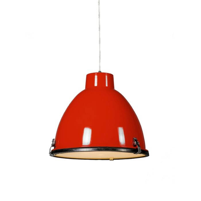 Anteros-38-Pendant-light-in-Red