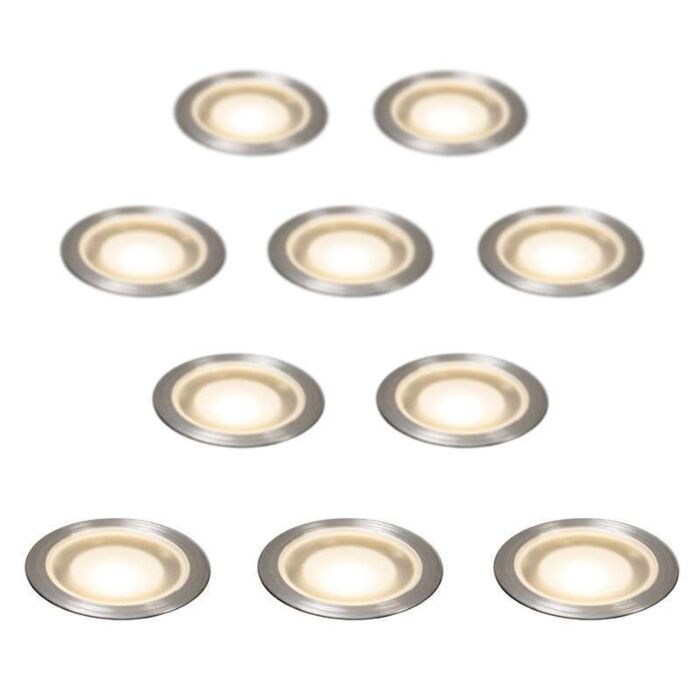 Set-of-10-Recessed-Spot-lights-Guard-IP54-WW