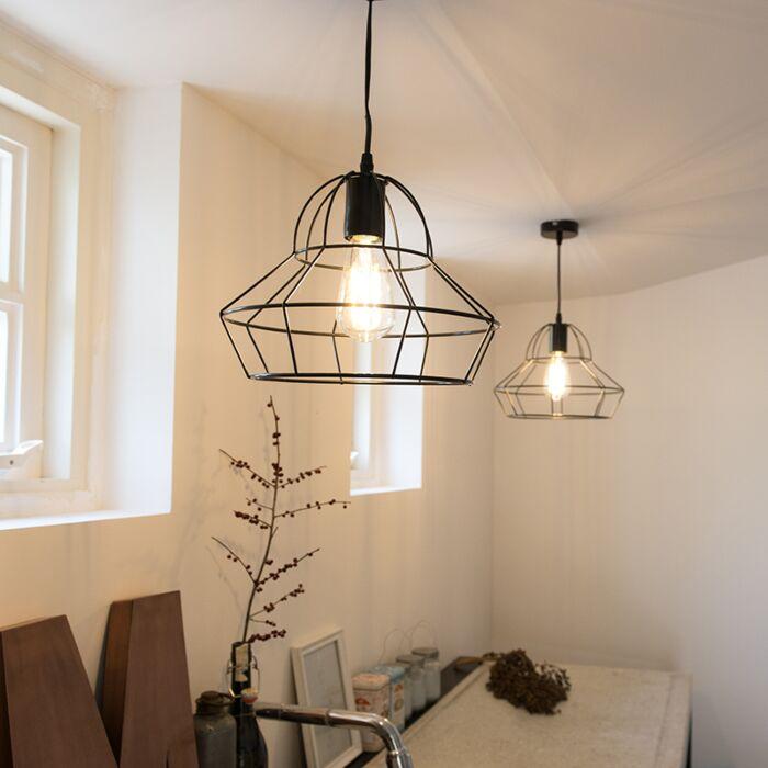 Pendant-Lamp-Frame-D-Black