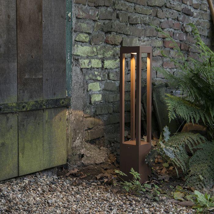 Outdoor-lamp-Krosno-Pillar-Square-Rust