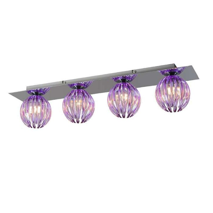 Ceiling-Lamp-Shine-4-chrome-with-purple
