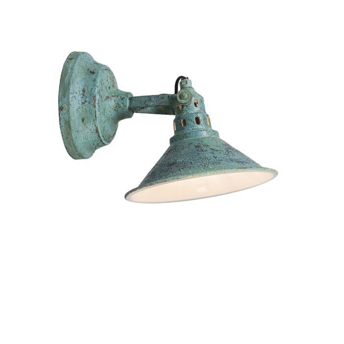 Wall-Lamp-Rust-Antique-Green