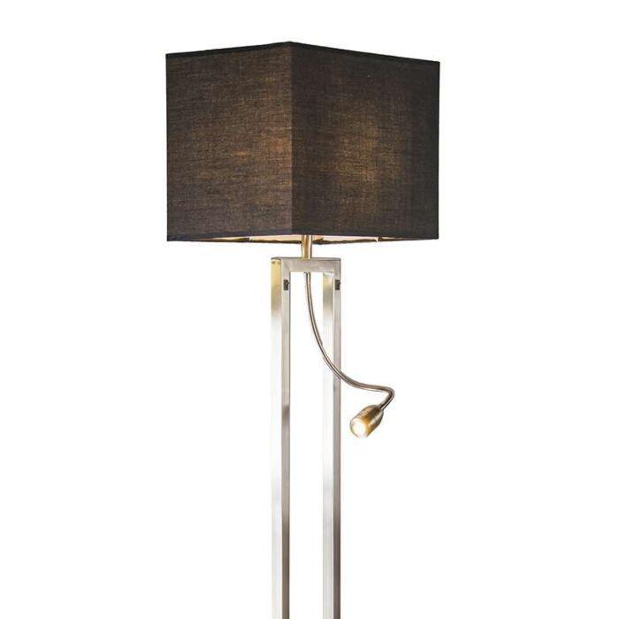 Floor-lamp-Bergamo-steel-with-black-shade