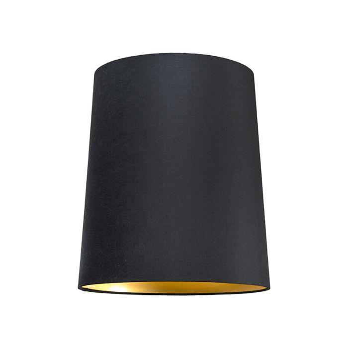 Shade-Round-35cm-SU-E27-Black-Gold