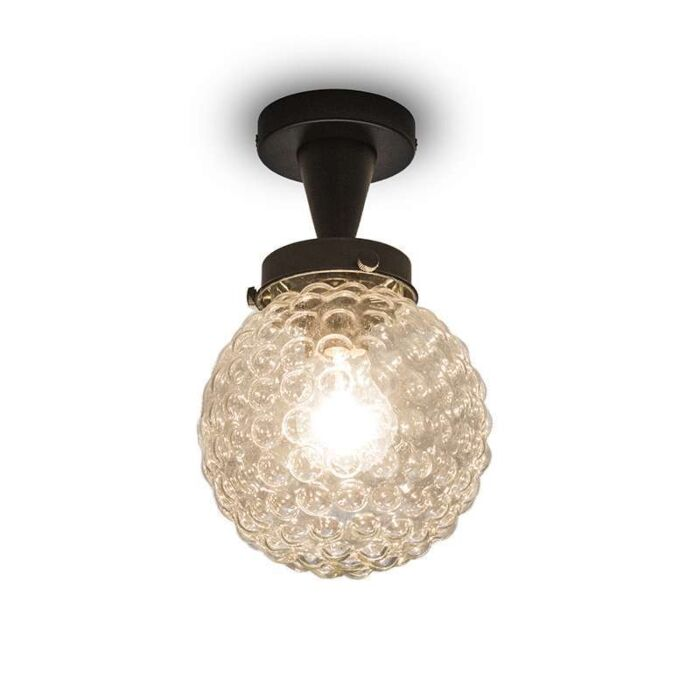 Brufoli-ceiling-lamp-with-clear-glass-in-black