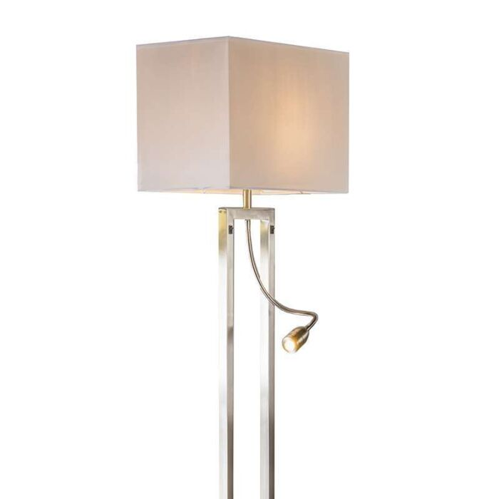 Floor-lamp-Bergamo-steel-with-cream-white-shade