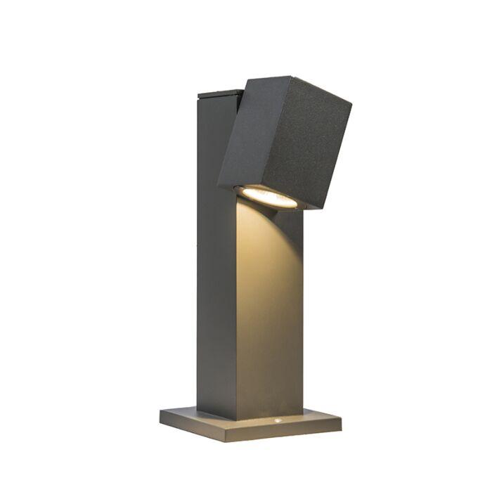 Outdoor-Pole-Baleno-Adjustable-30cm-Dark-Grey