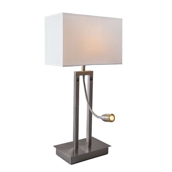 Table-lamp-Bergamo-steel-with-cream-white-shade