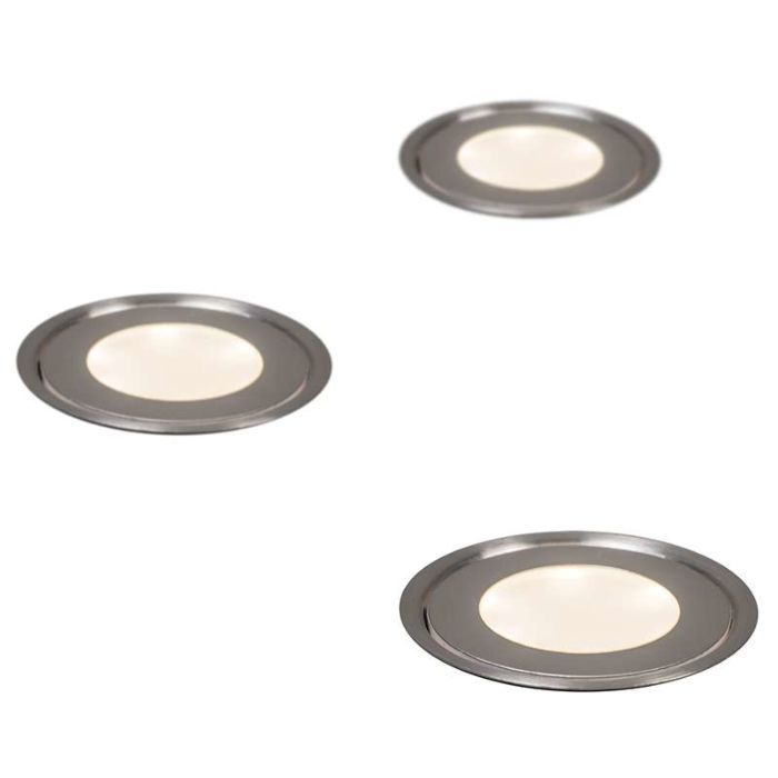 Set-of-3-Recessed-Spot-Lights-Puck-IP54-WW