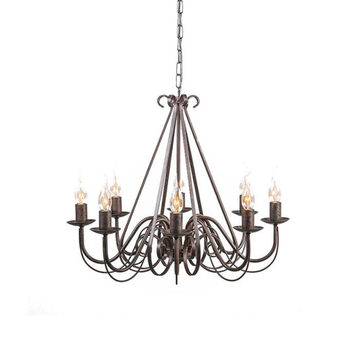 Antique-chandelier-brown-8-light---Giuseppe-8