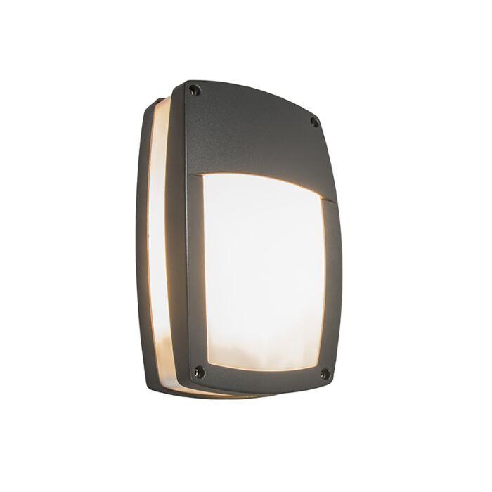 Modern-Outdoor-Wall-Lamp-Dark-Grey---Glow-Recta-1