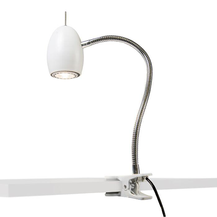 Design-clamp-spot-white-with-flexarm---Egg