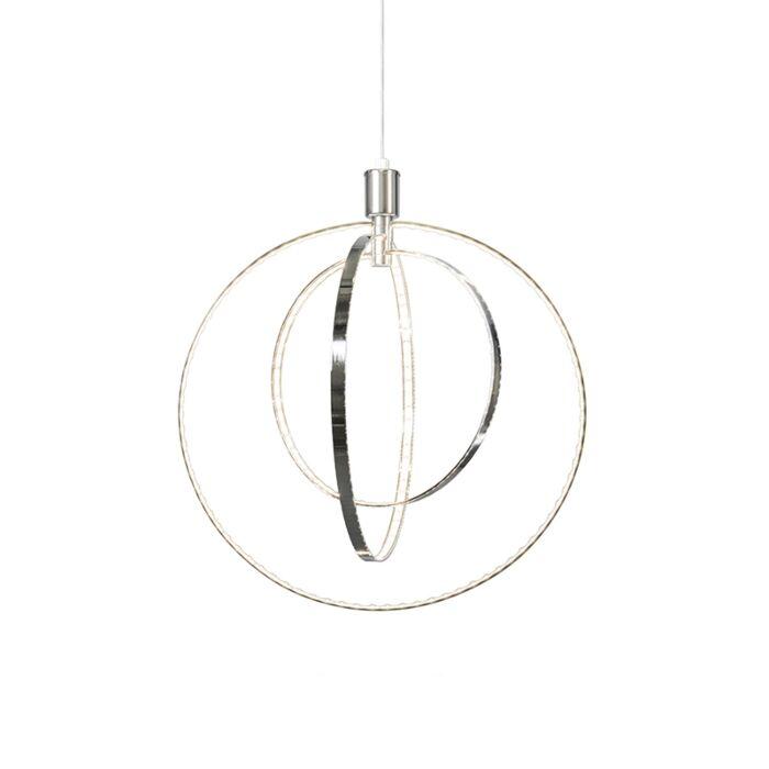 Modern-Pendant-Lamp-Chrome-incl.LED---Halo-Large