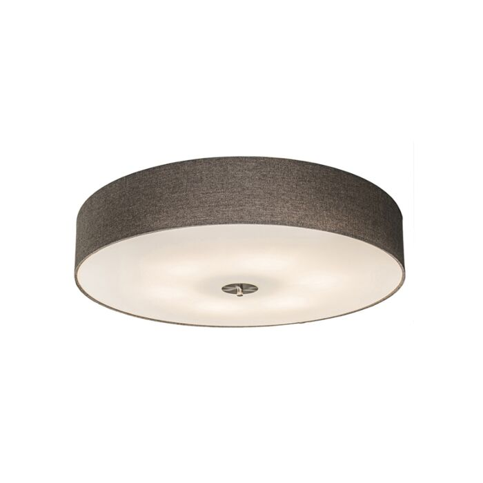 Country-ceiling-lamp-taupe-70-cm---Drum-Jute