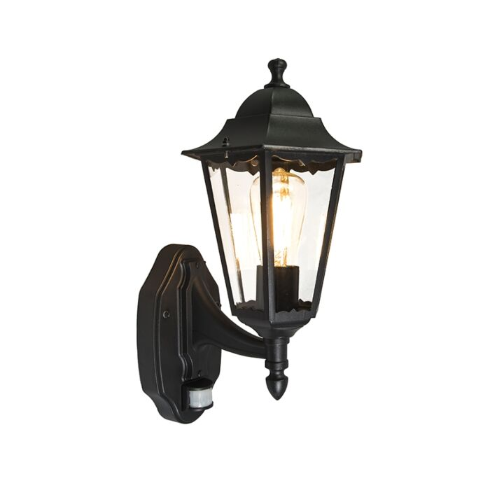 Classic-Wall-Lantern-Black-with-Motion-Sensor-IP44---New-Orleans-Up