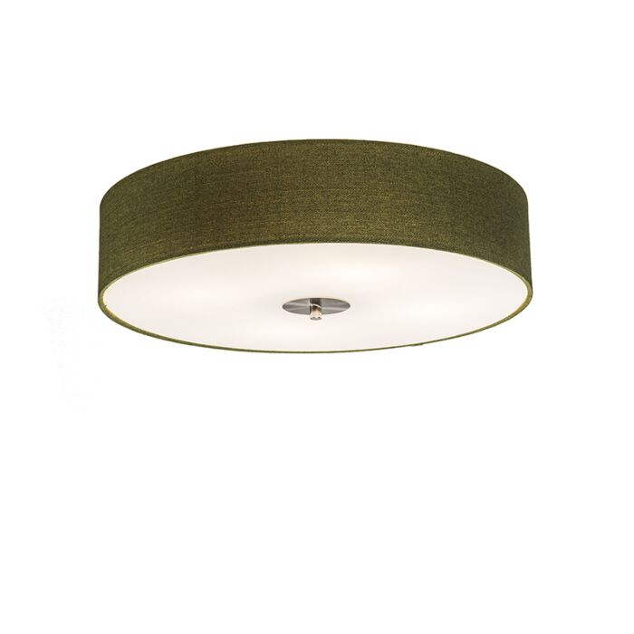 Country-Ceiling-Lamp-50cm-Green---Drum-Jute