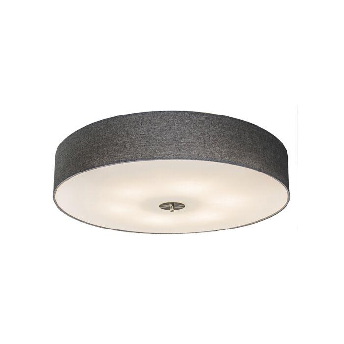 Country-ceiling-lamp-gray-70-cm---Drum-Jute
