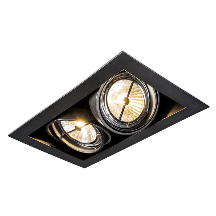 Recessed-spotlight-black-adjustable-2-light---Oneon-111-2