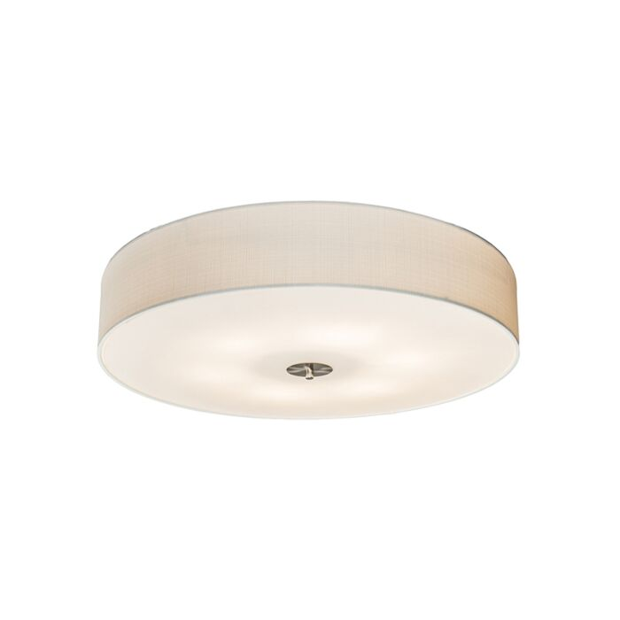 Country-ceiling-lamp-white-70-cm---Drum-Jute