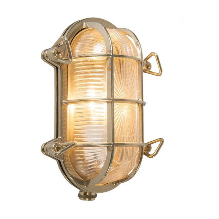 Retro-wall-lamp-gold-23-cm-IP44---Nautica-oval