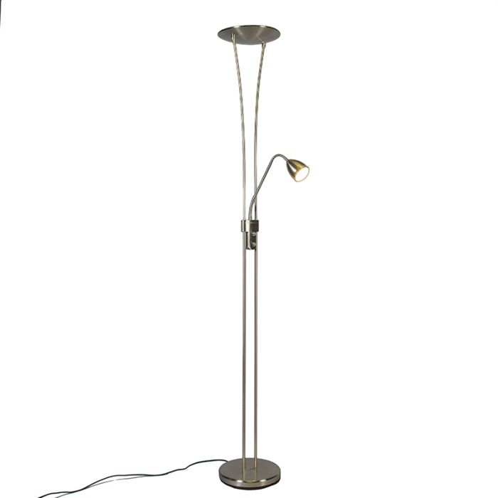 Uplighter-Jazz-2-with-Reading-Lamp-LED-Steel