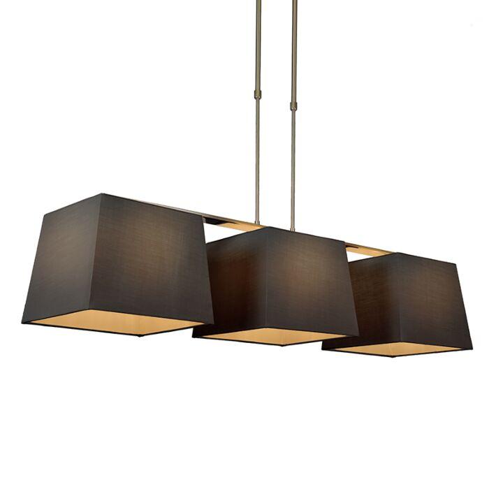 Pendant-Lamp-Combi-Delux-3-with-Square-Shades-30cm-Black
