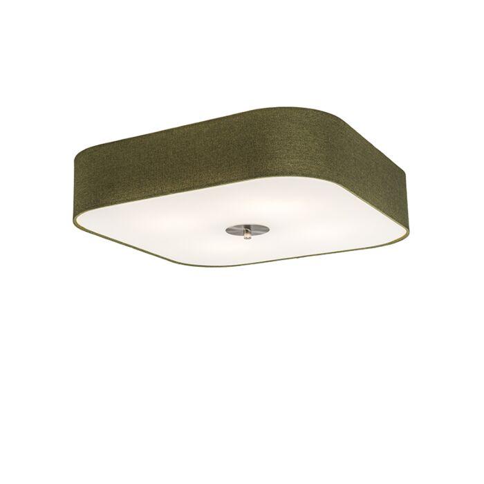 Ceiling-Lamp-Drum-Deluxe-50-Square-Jute-Green