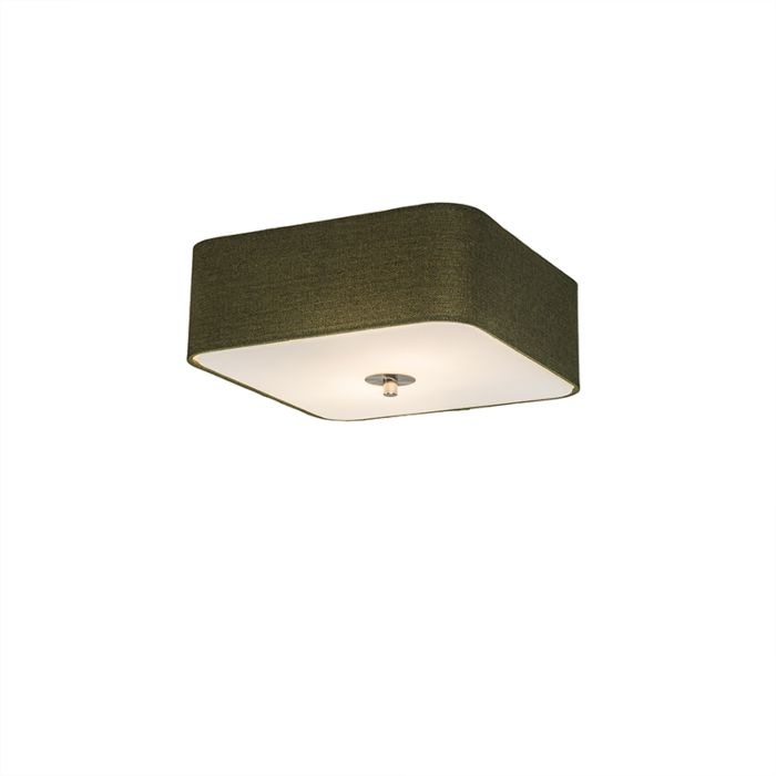 Ceiling-Lamp-Drum-Deluxe-30-Square-Jute-Green