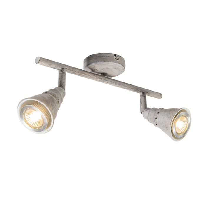 Ceiling-and-wall-spotlight-gray-rotatable-and-tiltable---Coney-2