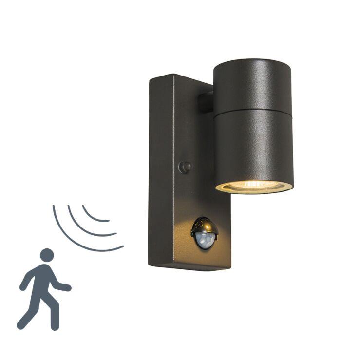 Outdoor-Lamp-PIR-Solo-Steel-Dark-Grey