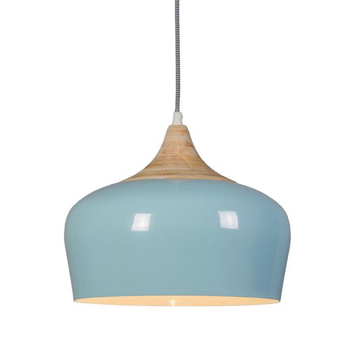 Pendant-Lamp-Pine-Light-Blue