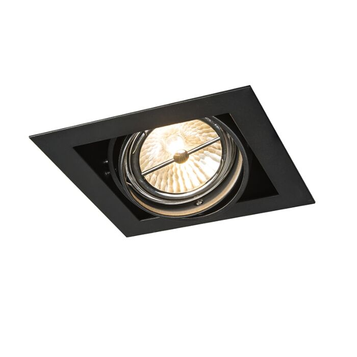 Recessed-Spotlight-black-square-adjustable-1-light--Oneon-111-1
